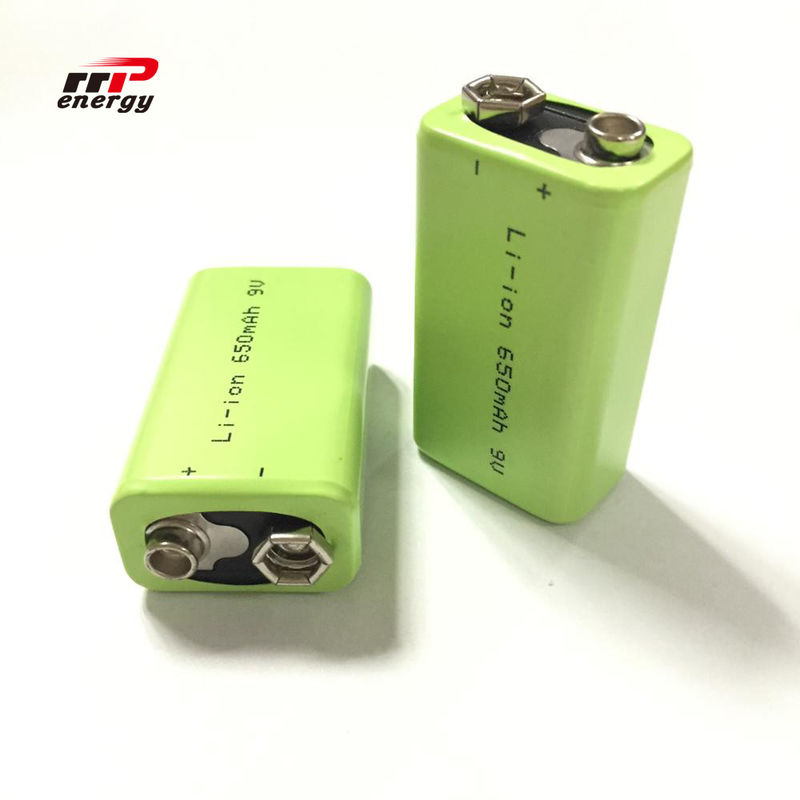 2000 Cycles Lithium Ion Rechargeable Batteries 9V 650mAh Interphone Medical Device