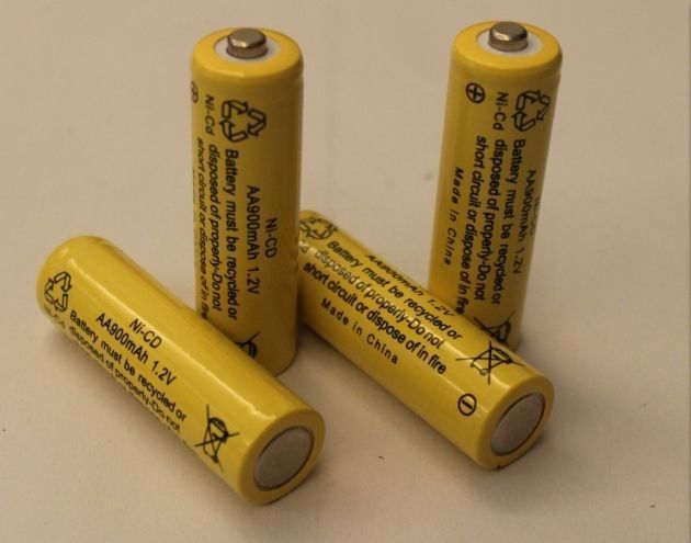 1.2V Cylindrical NICD Rechargeable Batteries AA900mAh UL