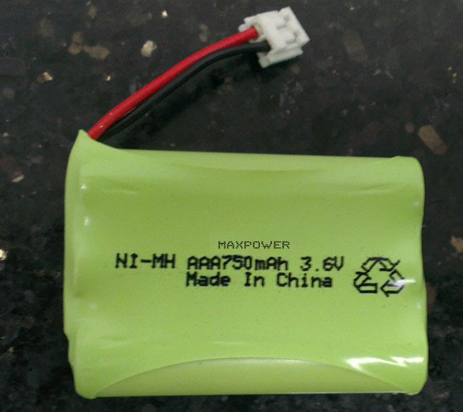 Ready To Use AAA750 Nimh Battery Packs 3.6V For Baby Monitor