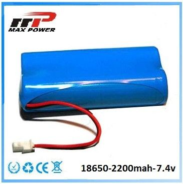 Medical Device 18650 2200mAh 7.4V Lithium Ion Rechargeable Batteries CE Rohs