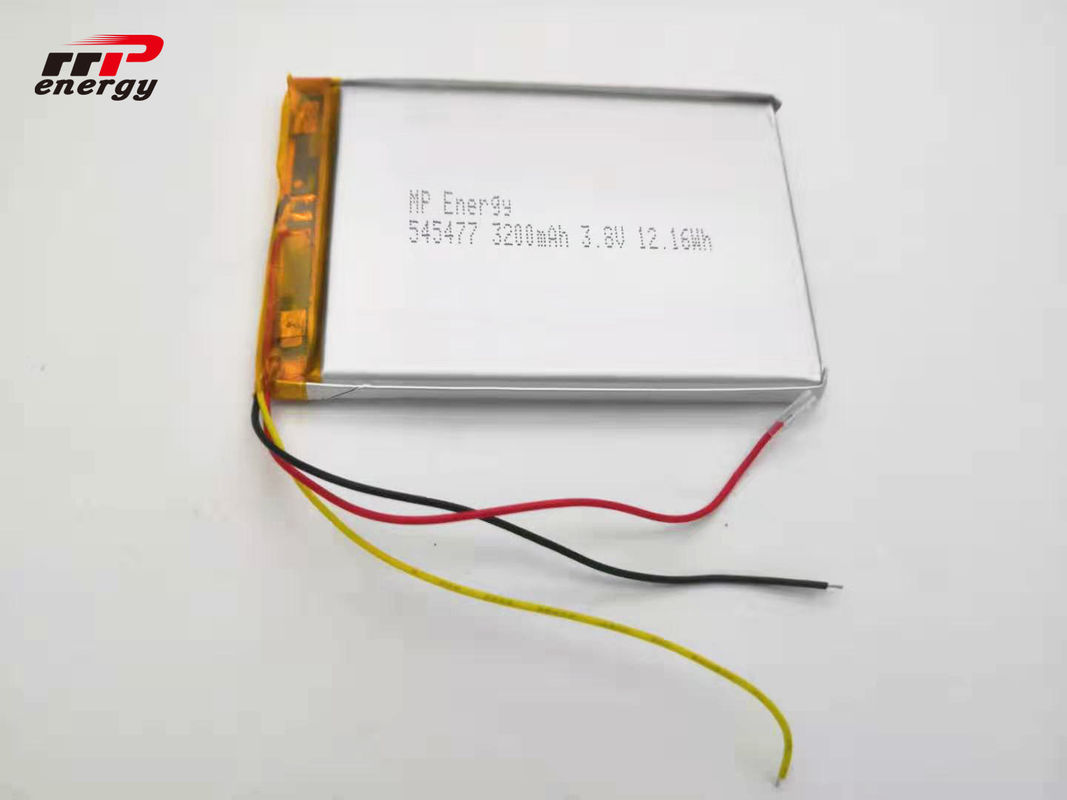 545477 Hardware Device Lithium Ion Polymer Rechargeable Battery 3.8V 3200mAh